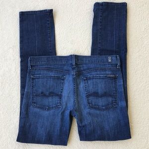 7 for All Mankind Straight Leg Skinny Jeans sz 32